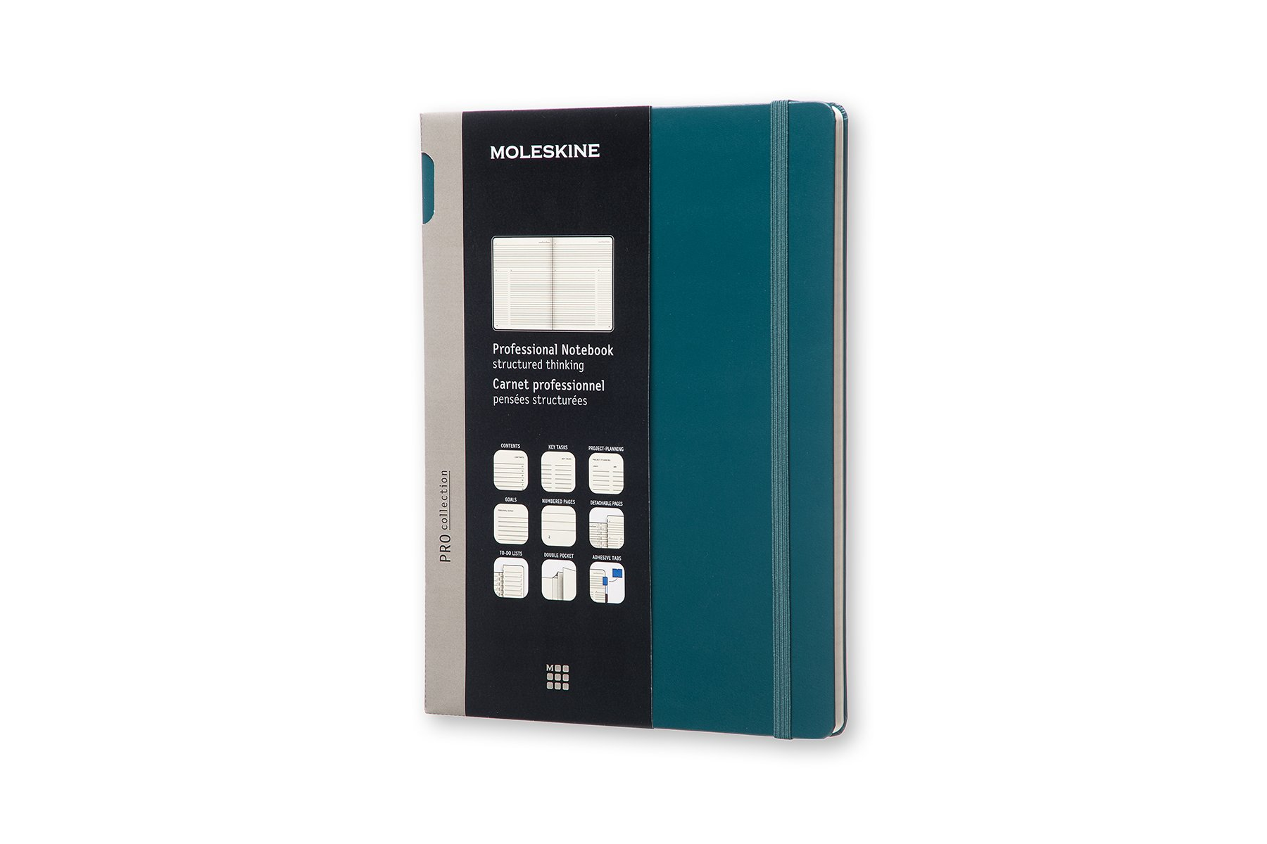 Moleskine Pro Hard Cover Notebook, Professional, XL (7.5 x..
