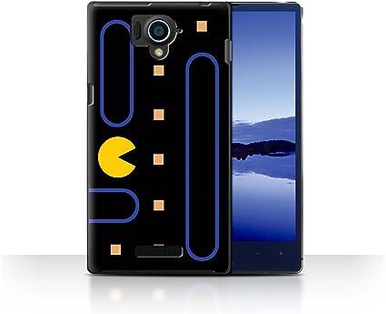 Stuff4® ® Phone Case/Cover/Skin/SP de CC/Retro Arcade Games Collection 8 bit Weltraum Außerirdische Sharp Aquos Crystal/306SH: Amazon.es: Informática