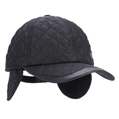 Warm Winter Baseball Hat Earflap Peaked Cap Trapper Trooper Bomber Hat Cap  Hunting Hat Outdoor Sport Hat with Ear Flaps Foldable Earmuffs Soft Fleece  Lining ... e6c2c793c920