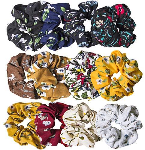 10 Pcs Velvet Hair Scrunchies - Hair Ties Band Hair Bow Scrunchie Hair Accessories for Women Girls (12 pack(mix))]()