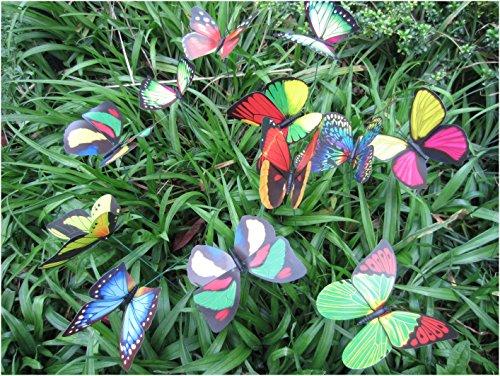 Garden Butterfly Stakes   LeBeila Butterfly Garden Decor Statue Outdoor  Yard Planter Flower Pot Bed Ornaments Butterflies ...
