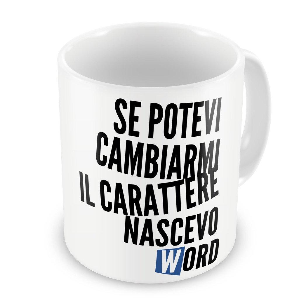 Tazza Mug Carattere word - Divertenti iMage iMageZ-IT-0425-WHI