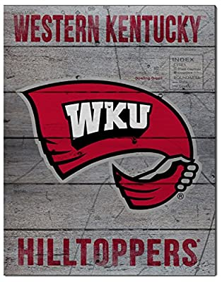 "KH Sports Fan 16""x20"" Western Kentucky Hilltoppers Road to Victory Collage Pallet Pride Plaque"