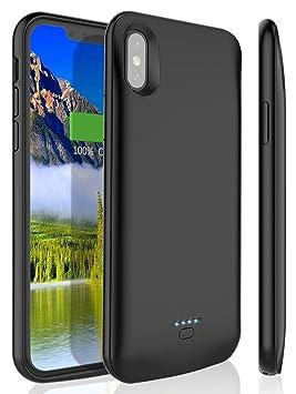 Bovon Funda Bateria iPhone XS/X, 4000mAh Desmontable Carcasa Bateria Externa Recargable Power Bank, Cargador Portatil Protector Estuche de Carga para Apple ...