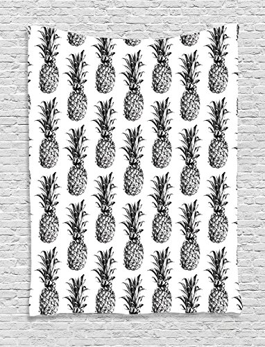 Pineapple Tapestry Ambesonne Artistic Hand Drawn