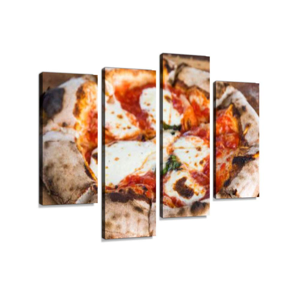 Brick Oven Pizza Canvas Wall Art Hanging Paintings Modern Artwork Abstract Picture Prints Home Decoration Gift Unique Designed Framed 4 Panel