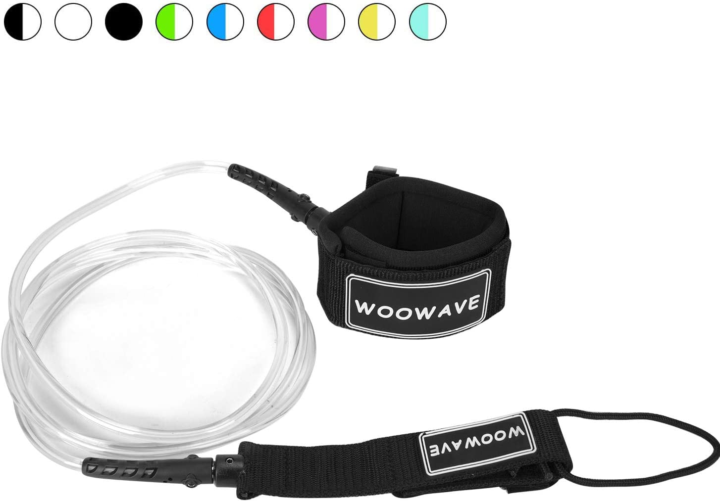 WOOWAVE Surfboard Leash Premium Surf Leash SUP Leg Rope Straight 6/7/8/9 feet for All Types of Surfboards