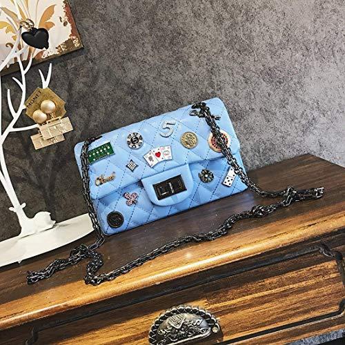 Chain Eeayyygch tracolla taglia Lingge per blu unica a Borsa rosa colore Package donna CFxqUwnCr