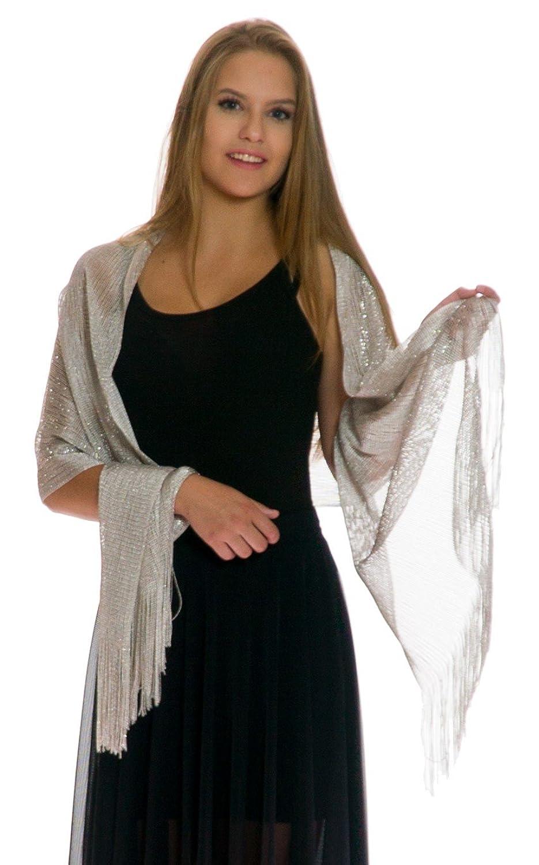 Amazon.com: Shawls and Wraps for Evening Dresses - Sheer Bridal ...