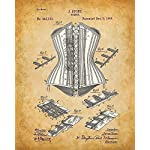 Original Corsets Patent Art Prints - Set of Four Photos (8x10) Unframed - Makes a Great Gift Under $20 for Goth, Pinup… 7