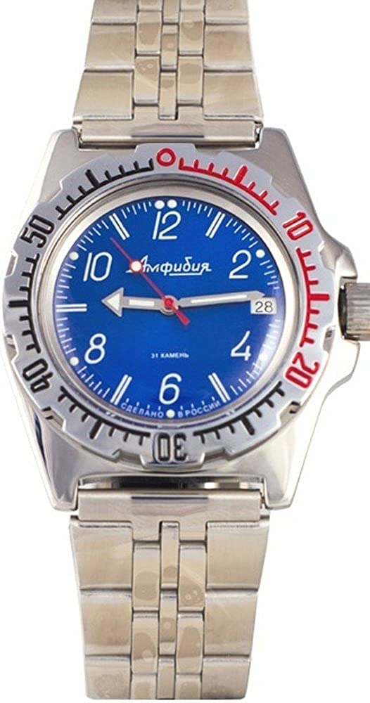 Vostok Amphibian Military Russian Diver Watch Classic Black 2416 110908