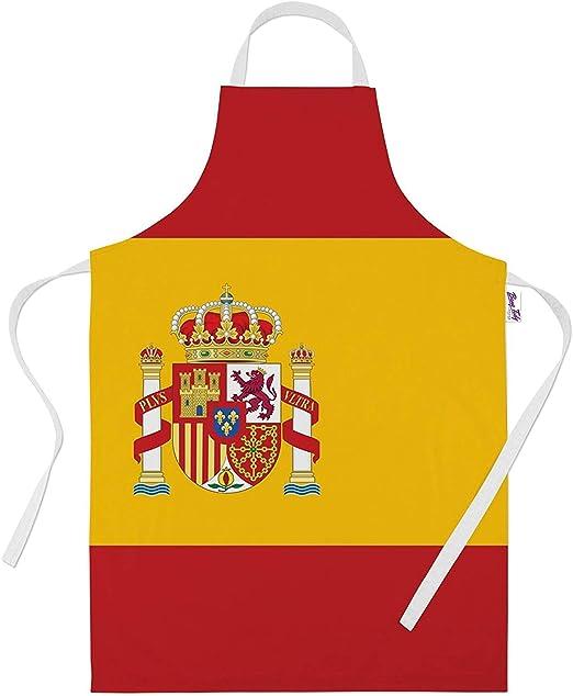 Impreso delantales para hombres – bandera de España para horno ...