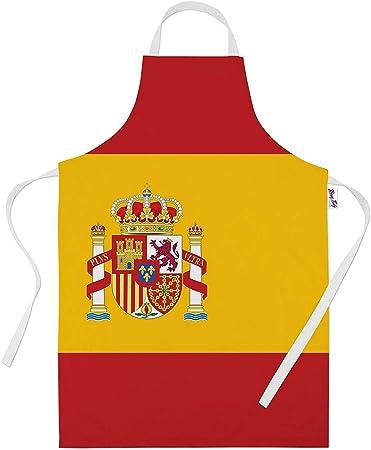Impreso delantales para hombres – bandera de España para horno regalos delantal de cocina Cooking Chef regalo, 100% poliéster, Blanco, Talla única: Amazon.es: Hogar