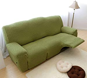 HUANXA High Stretch Reclining Sofa Slipcover, Sofa Cover for Recliner Furniture Protector Couch Covers for 1 2 3 Cushion Couch -Green-Chair 90-130cm