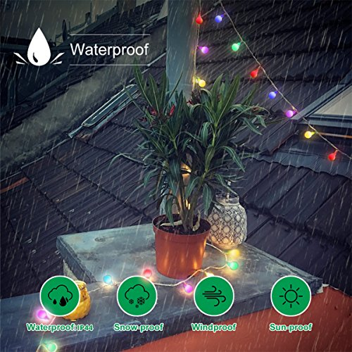 Globe String Lights, 50 LED Colored Outdoor String Lights, Battery Powered String Lights Waterproof, 18 Ft, Patio String Lights with Remote Control for Patio Garden Party Wedding Decoration by Smart&green Lighting (Image #2)