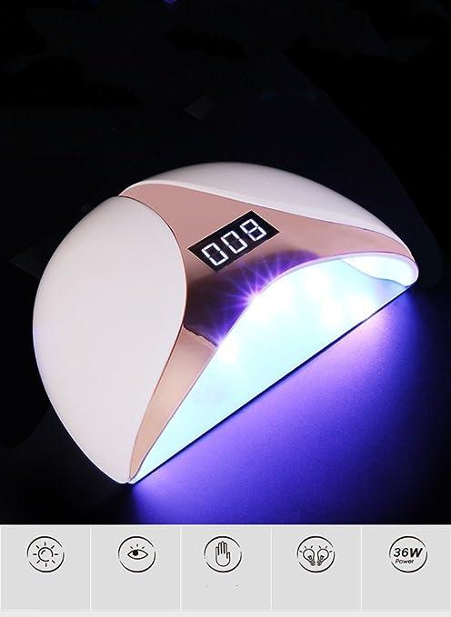 Explosiones inducción inteligente 36W LED máquina de terapia de luz de uñas fuente de luz dual secador ...