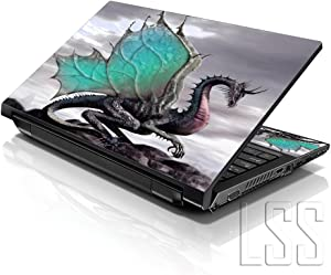 """LSS Laptop 17-17.3"""" Skin with Colorful Dinosaurs Pattern for HP Dell Lenovo Apple Asus Acer Compaq - Fits 16.5"""" 17"""" 17.3"""" 18.4"""" 19"""" (2 Wrist Pads Free)"""