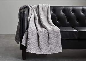 Better Homes & Garden Velvet Plush Oversized Throw 50 in. x 70 in. (Gray)