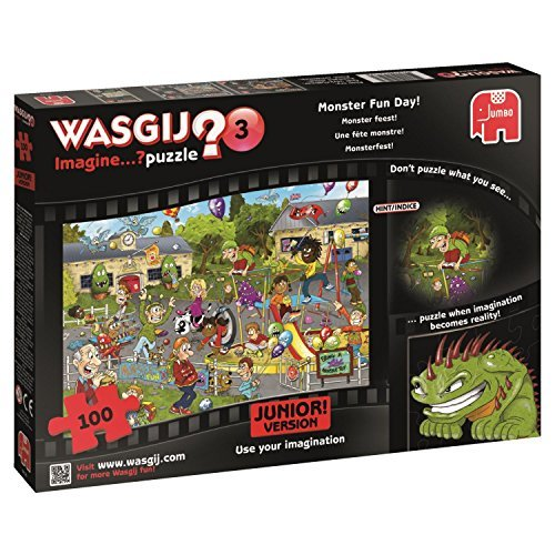 Wasgij Junior 3 Monster Fun Day Jigsaw Puzzle (100-Piece) by Wasgij