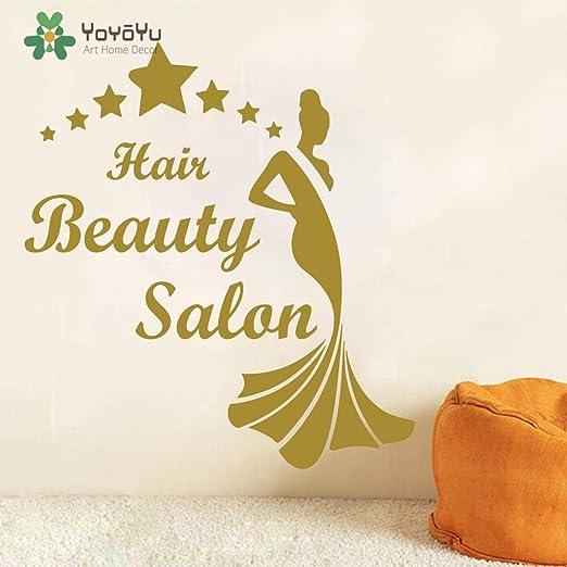 yaoxingfu Hair Beauty Salon Tatuajes de Pared Patrón de Estrellas ...