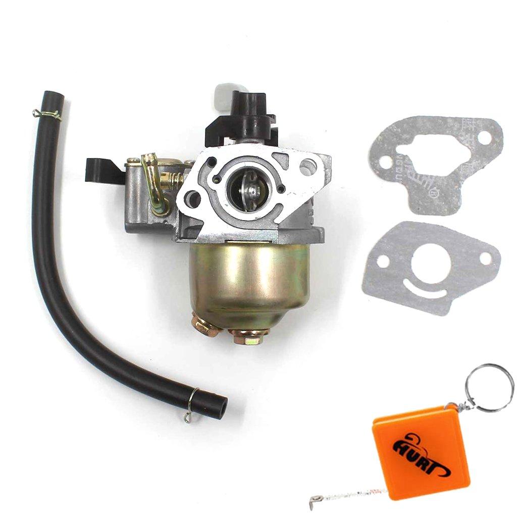 HURI Carburettor & Gasket Fit Honda GXH50 GX100 Mixer Loncin Lifan Carb G100 Engine Carburetor Fuel Hose Line Does not apply