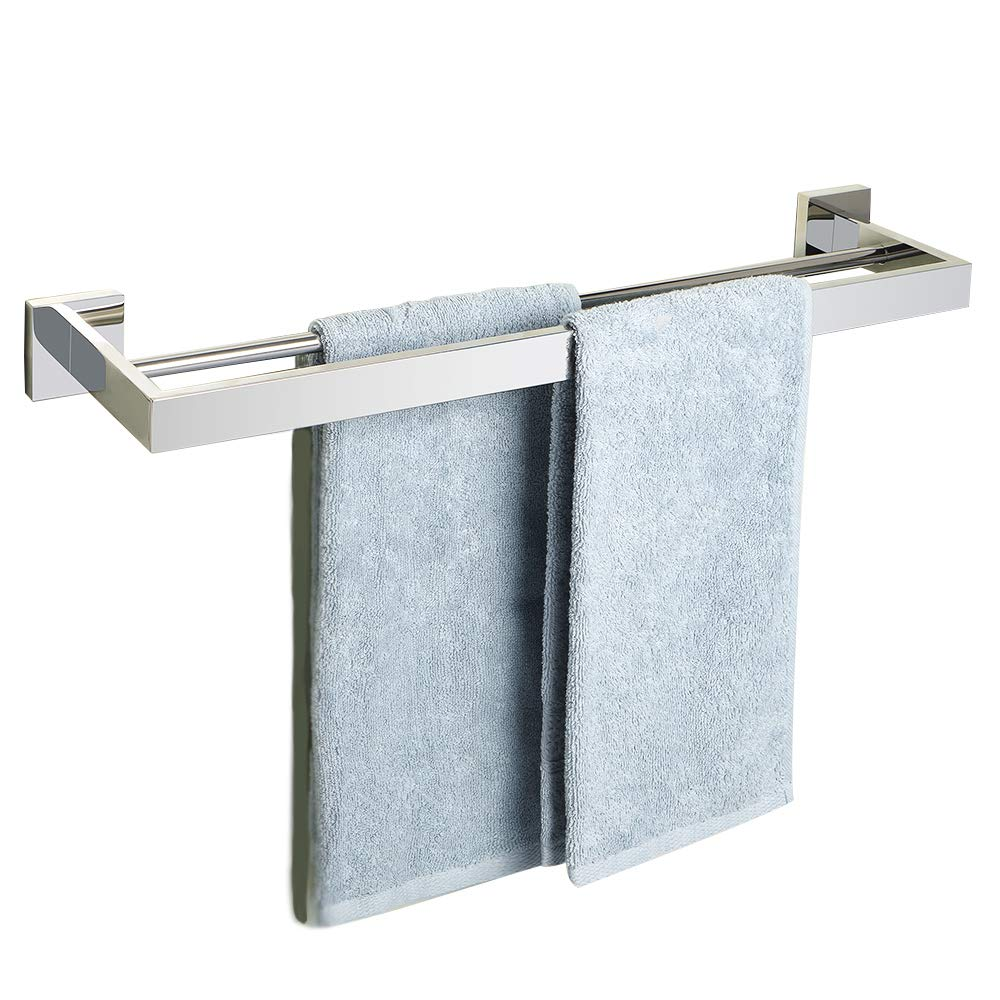 Alise GA7202-C Bathroom Double Towel Bar Wall Mount 24-Inch,SUS304 Stainless Steel Polished Chrome