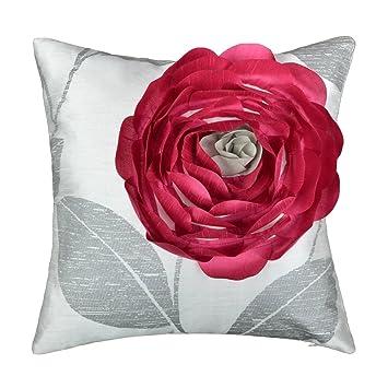 JWH 3d flor rosa fundas de cojín manta funda de almohada de ...