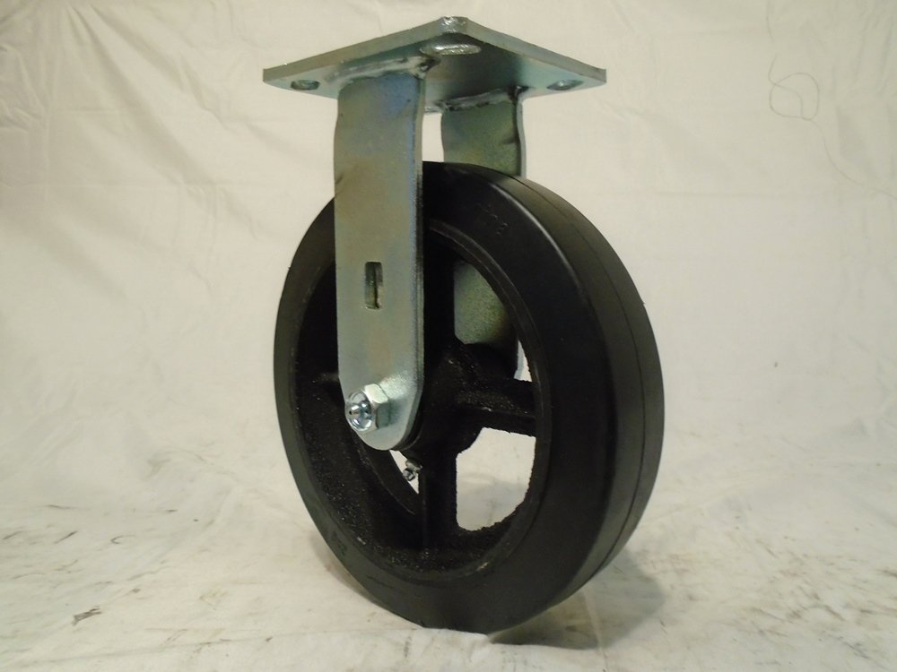 8'' X 2'' Swivel Casters Rubber Wheel with Brake (2) Rigid (2) 600 Lbs Each Tool Box
