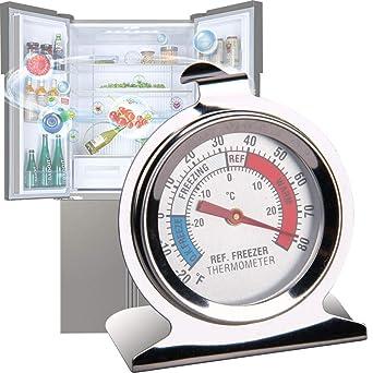 ISKM termómetros de refrigerador con dial grande de acero ...