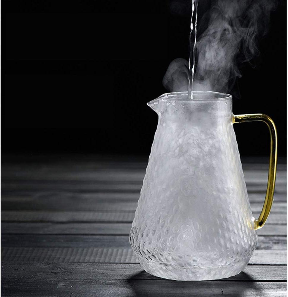 th/é glac/é et jus de boissons bouilloire Grande capacit/é en verre Cruche avec couvercle en verre froide bouilloire 1500ml 2 bouilloire en verre bouilloire Cafeti/ère