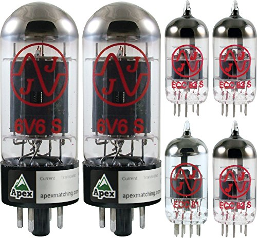 Vacuum Tube Set for Fender Princeton Reverb II, Apex Matched
