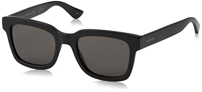 Amazon.com: Gucci 52/21/145 - Gafas de sol, color negro ...