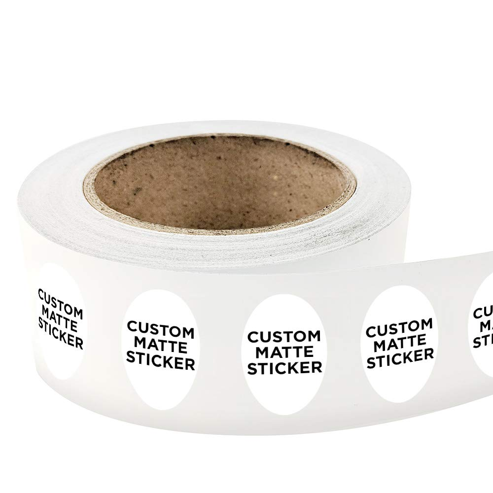Amazon com 500 oval shape custom matte roll label stickers 2 x 3 for products packaging bottles or events upload your own image logo