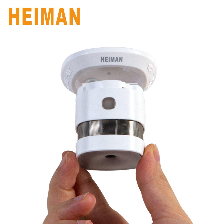 heiman 10 años Mini diseño Detector/Smart Smoke Sensor/Detector de humo (- Color Blanco - Juego de 1: Amazon.es: Bricolaje y herramientas