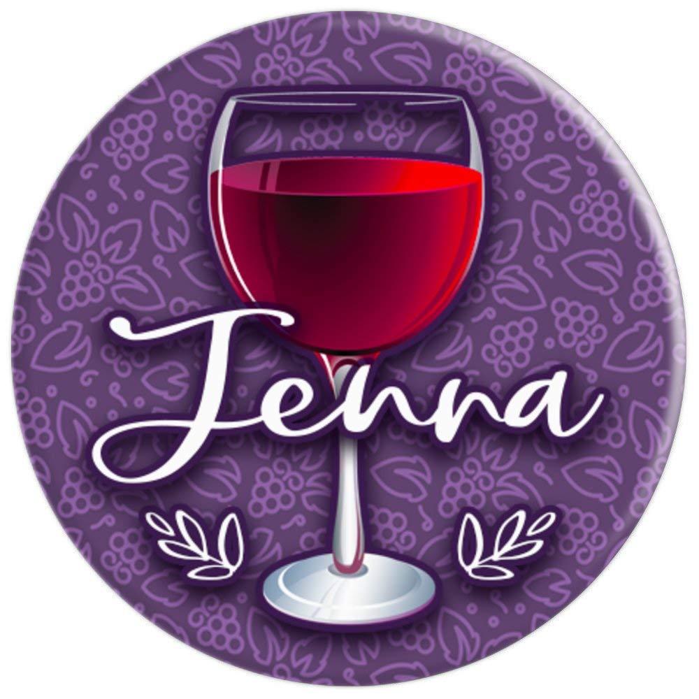 Amazon.com: Regalo de vino nombre Jenna rojo morado vino ...