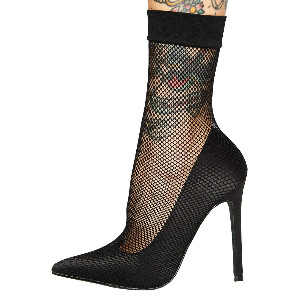 9c93add37 Amazon.com | Themost Women's High Heel Pumps Sexy Fishnet Stockings Sandal  Sharp Toe Stiletto Heels Pump Dress Party Shoes | Shoes