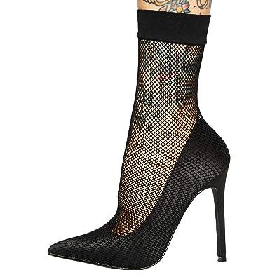 c903fa8ce181 Amazon.com  Themost Women s High Heel Pumps Sexy Fishnet Stockings Sandal  Sharp Toe Stiletto Heels Pump Dress Party Shoes  Shoes