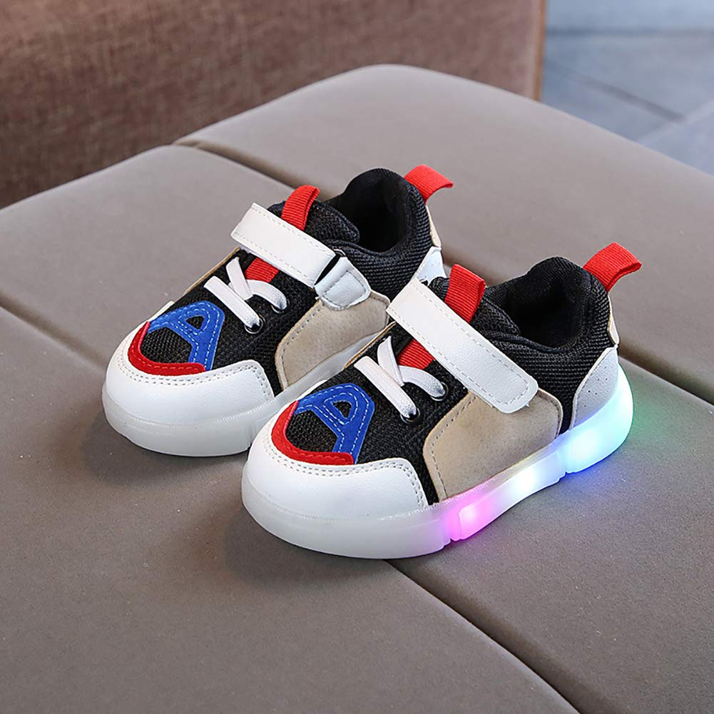 Blue 21 Alamana Fashion Kids Girls Boys Colorful Sneaker LED Light Anti-Slip Casual Shoes Gift