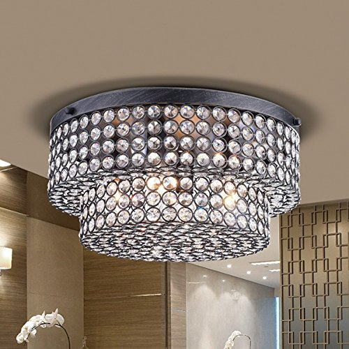 Light 2 Tier Crystal Chandelier - 5