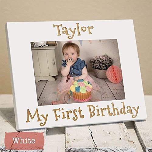 Amazon Com Personalized First Birthday Frame First Birthday Gift