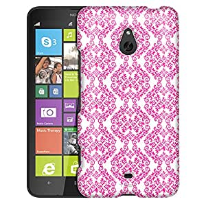 Nokia Lumia 1320 Case, Slim Fit Snap On Cover by Trek Victorian Stunning Pink on White Case