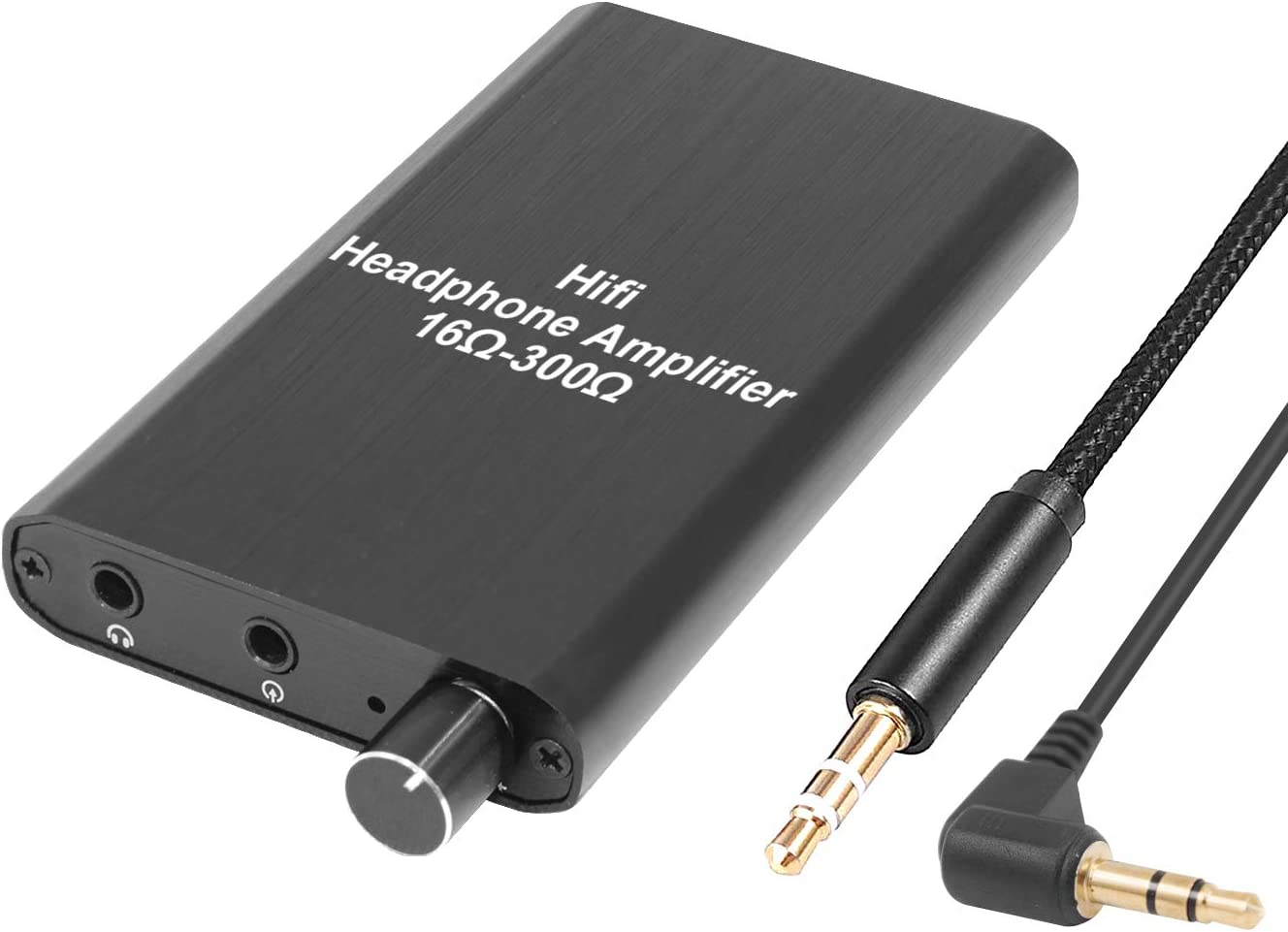 Portable Bass Dual Output Headphone Amplifier HiFi Stereo Mini Black Audio Amp