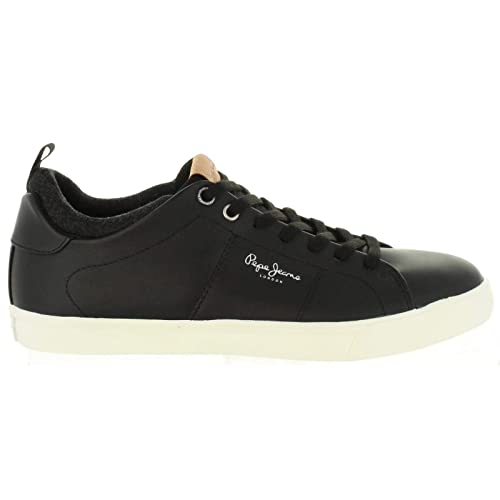 Pepe Jeans London Marton Basic, Zapatillas para Hombre, Negro (Black 999),