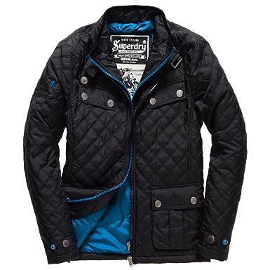 SUPERDRY Apex Quilt Blouson Homme NOIR Taille S  Amazon.fr ... 5870adece369