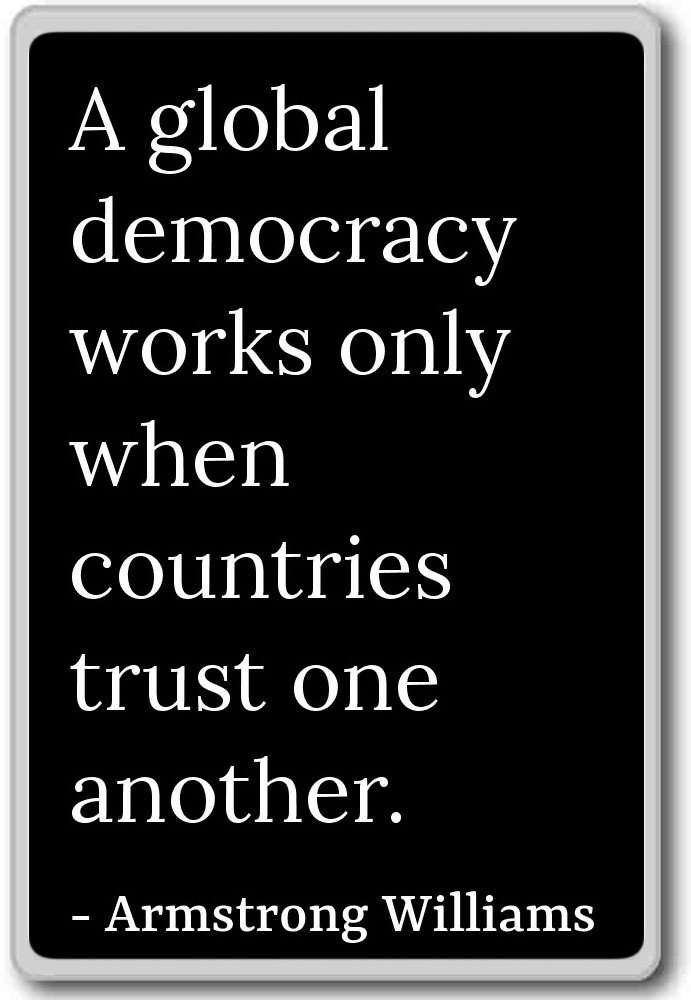 Amazon.com: A global democracy works only when count ...