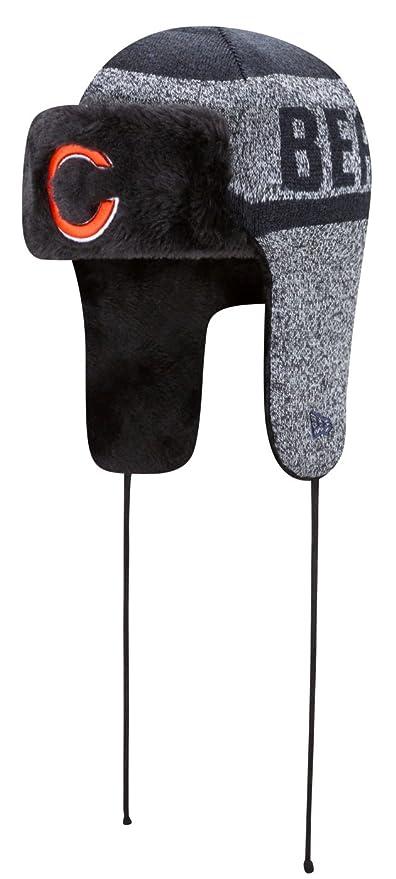 bffecff1bbb Amazon.com   New Era NFL Chicago Bears Frostwork Trapper Knit Beanie ...