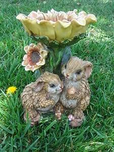 Rabbits w/ Sunflower Bird Feeder