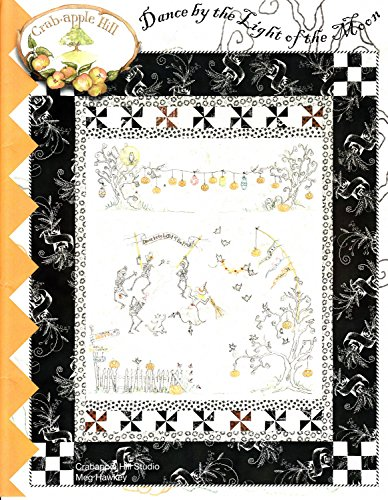 Dance by the Light of the Moon Halloween Embroidery Pattern by Meg Hawkey From Crabapple Hill Studio -
