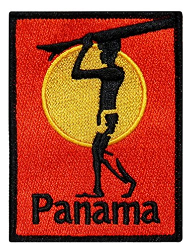 ''Panama'' Surfboard Beach Bum Wave Rider Ocean Surf Sew On Applique Patch by Mia_you