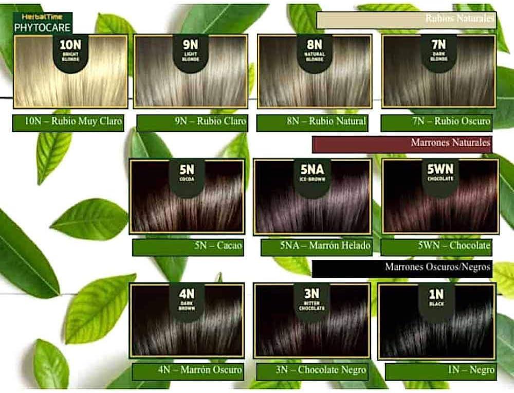 Herbal Time Phytocare Tinte permanente y nutritivo para cabello sin amoniaco, sin PPD, sin SLS, sin parabenos Color Caoba Intenso 6NR